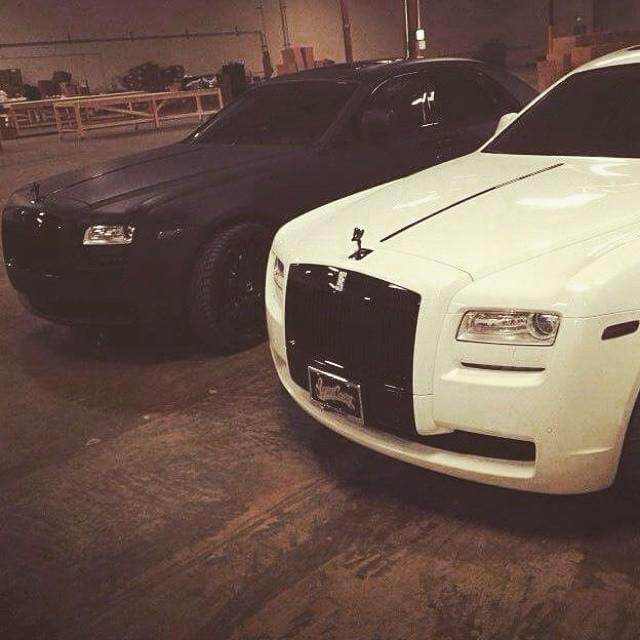 black matte & white