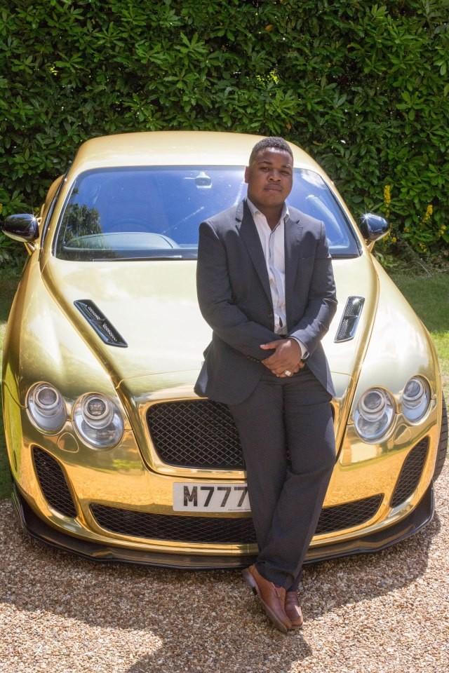 Zlaté Bentley Continental GT