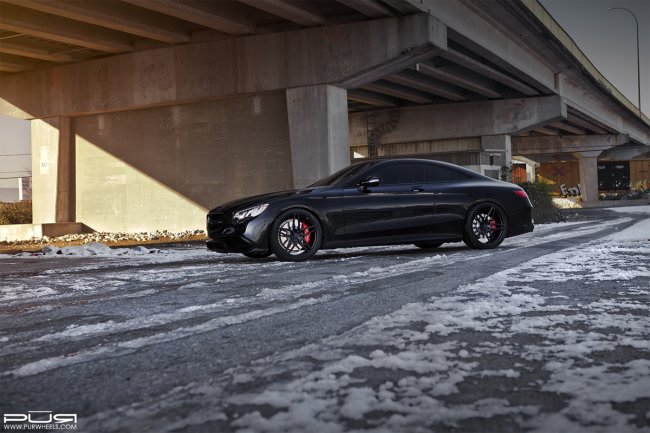Mercedes AMG S63 s koly od PUR Wheels