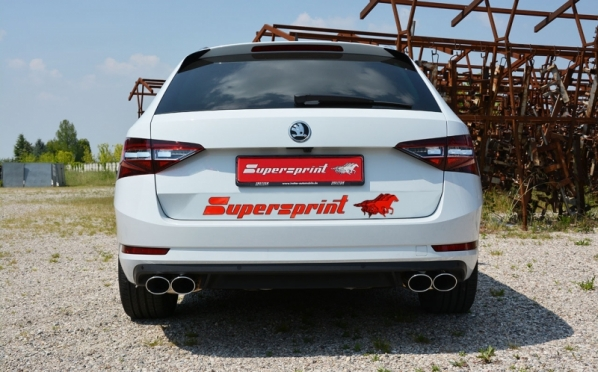 Škoda Superb s výfukem Supersprint!
